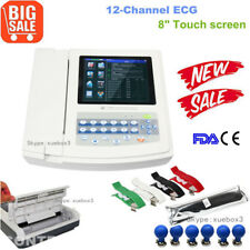 "FDA&CE touch 12 channel 12 lead 8"" color LCD digital ecg/ekg electrocardiograph"