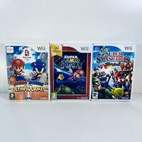 Super Mario Galaxy Super Smash Bros Mario Sonic Olympic Game Bundle Nintendo Wii