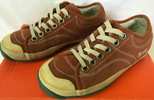 Simple Old School Eco Retro F14005E Rust Leather Lace Sneakers Shoes Women's 7.5
