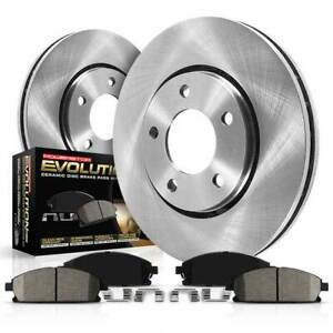 KOE1534 Powerstop Brake Disc and Pad Kits 2-Wheel Set Front New for Chevy Olds