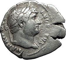 Hadrian  117-138AD Rare Silver Ancient Roman Coin Abundantia Prosperity  i58510