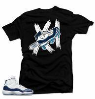 Shirt to match Jordan 11 Navy Win Like 82- Ice Black tee