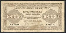 Poland - Old 100,000 Marek Note - 1923 - P34 - VF