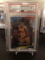 2017-18 Donruss Optic Red Yellow Kyle Kuzma Rookie Basketball Card #174 PSA 9