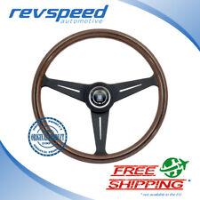 NARDI Italy Steering Wheel Classic Classico Wood Black Spokes 390mm