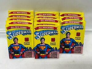 Lot of 13 1978 Topps Superman The Movie Photo Card packs