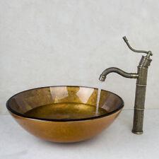 Waschbecken Waschbecken gehärtetes Glas handbemalt WC Bad Waschbecken Combine