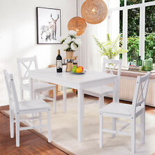Kitchen Dining Table and Chairs Set Dining Room Furniture Farmhouse Seat 5pcs
