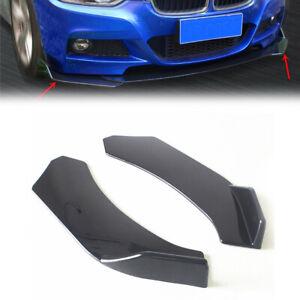2PCS Car Front Bumper Lip Splitter Body Side Spoiler Protector Universal ABS