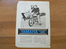 Y337 YAMAHA BROCHURE 50 SUPER BROMFIETS MOPED 2 PAGES DUTCH AROUND 1973
