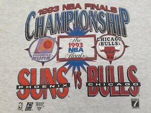 VTG 90s 1993 NBA Finals Phoenix Suns Vs. Chicago Bulls Single Stitch T Shirt M
