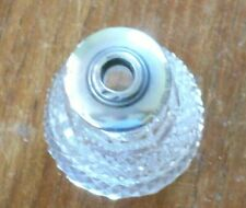MOULDED GLASS PERFUME BOTTLE WITH A STERLING SILVER TOP