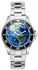 Erde Earth Weltkugel Geschenk Fan Artikel Zubehör Fanartikel Uhr 1969