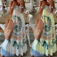 Women Sexy Fashion Loose Tank Maxi Dress Lady Casual Printing Ball Gown Dresses