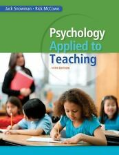 Psychology Applied to Teaching by Jack Snowman and Rick McCown (2014, Paperback)