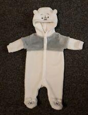 Newborn Snowsuit Coat All In One White Jacket WORN ONCE Winnie the Pooh Disney