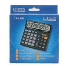 Citizen CT 555N Desktop Calculator 2 Digit LCD Dual Power Check and Correct NEW