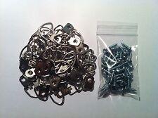 "Picture Frame Strap D-Ring Hangers (Medium) 100/pk Plus #6 x 1/2"" screws"