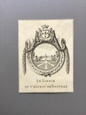 Ex-Libris Du Château de NEUVILLE bookplate