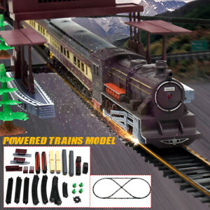 Electric Large Classic Train Set RAIL Vehicle Kids Toy Track Carriages Gift