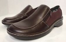 Faded Glory Loafers 7.5 Brown Leather Slip On Low Heel Casual Work