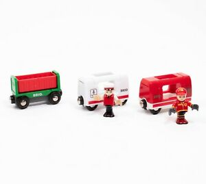 BRIO Tipping Wagon and Passenger Carriage Coaches + Figures BUNDLE