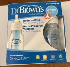 Dr Browns Natural Flow (Pack of 3 - 4 oz BPA Free Polypropylene Bottles, 0m+)