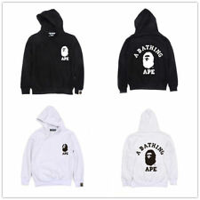 A Bathing Ape Men Hooded Jacket BAPE Pullover Long Sleeve Sweatshirt Hoodie TEE