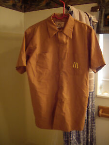 Vintage 1983 McDonalds Crew STAN HERMAN Employee Shirt SZ LARGE SHORT SLEEVE
