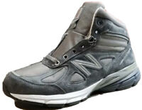 ✅ New Balance 990 Mid Sneaker Boot (MO990GR4) Grey White Suede Size 10 NIB
