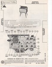 1963 DELMONICO 1033U RADIO SERVICE MANUAL PHOTOFACT SCHEMATIC AMPLIFIER REPAIR