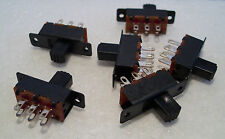 2K100 6 x Mini DPDT On-Off Slide Switch Ideal for Model Railway/Railroad Use 1st