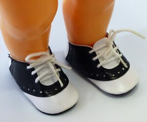 """Vintage Doll Black & White Tie Saddle Shoes ~ Fits 16"""" Terri Lee ~ New Old Stock"""