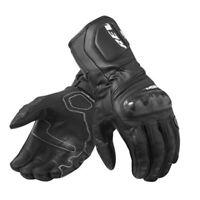 Guanti pelle moto Rev'it RSR 3 nero black leather gloves