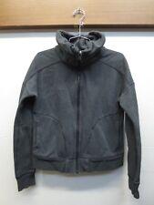 EUC Womens Lululemon Athletica Cropped Fleece Jacket Gray Thumbholes Size M?