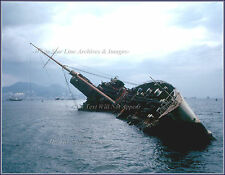 Photo - Incredible View: The Wreck Of The RMS Queen Elizabeth: Hong Kong, 1972