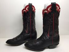 #G WOMENS PANHANDLE SLIM COWBOY LEATHER BLACK BOOTS SIZE 5 C