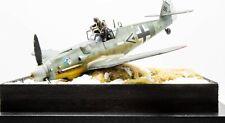 1/32 Crash aterrizó Messerschmitt Me109 G6 Diorama, Construido y pintado no 1/35,