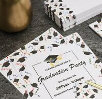 Stationery Paper and Envelopes Set, Graduation Party Supplies (8.5 x 11 in 48pk)