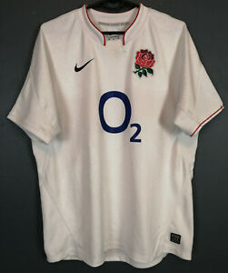 MEN NIKE ENGLAND NATIONAL RUGBY UNION 2009/2011 HOME SHIRT JERSEY MAILLOT SIZE M