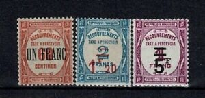 """FRANCE STAMP TAXE YVERT 63 / 65 """" SERIE 3 TIMBRES SURCHARGES """" NEUFS xx TTB V517"""