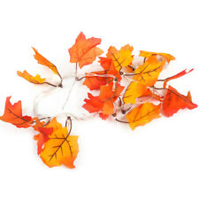 10 LED Autumn Fall Leaves Garland Harvest String Light Operated Lamp Party Decor