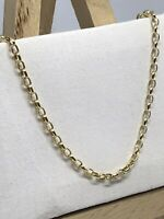 "9ct 375 Yellow Gold Hallmarked 2mm BELCHER LINK CHAIN BRAND NEW GIFT 18"" 20"""