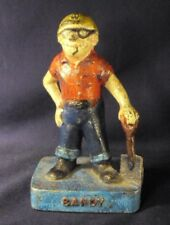 Cast Iron Door stop figural Sandy male worker Midwest fdy
