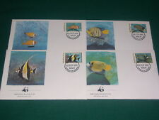 Maldives 1986 Fish's, Wild Animals, WWF  FDC. VF