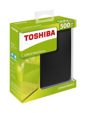 Toshiba 500GB Canvio Basics USB 3.0 Portable External Hard Drive For PC MAC DE