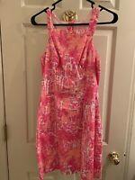 Lilly Pulitzer Shift Dress Sleeveless Pink Size 4