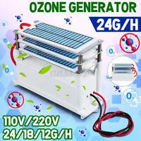 110V/220VAC Ozone Generator 12g/h-24g/h Extra Portable Ozonizer Air Purifier New