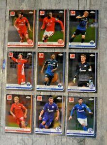Topps Fußball Bundesliga Chrome 2019/2020-18 verschiedene Trading Cards