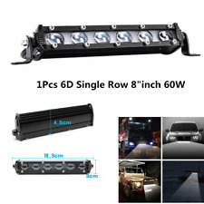"1Pcs 8""inch 60W Car Off-Road 6D Single Row Spot Beam Fog Lamp LED Work Light Bar"